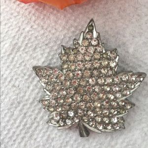 Anthony signed 1940s Crystal Maple Leaf Pin. 🍁